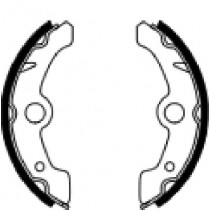 Etriers de frein arrière  front 160x25mm include springs